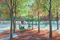 Le Jardin du Tuileries by Charles Rowbotham - Original Painting on Board sized 17x12 inches. Available from Whitewall Galleries